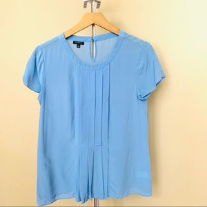 Talbots baby blue small blouse